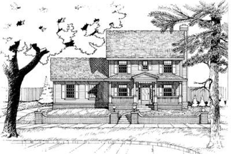 Colonial Exterior - Front Elevation Plan #20-465