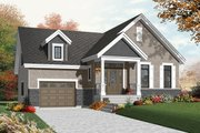 Craftsman Style House Plan - 1 Beds 1 Baths 1054 Sq/Ft Plan #23-2386