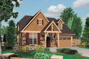 Craftsman Style House Plan - 3 Beds 2.5 Baths 2032 Sq/Ft Plan #48-524 Exterior - Front Elevation