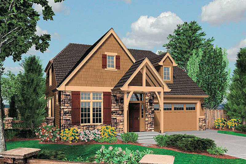 Dream House Plan - Craftsman Exterior - Front Elevation Plan #48-524