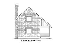 Home Plan - Traditional Exterior - Rear Elevation Plan #48-302