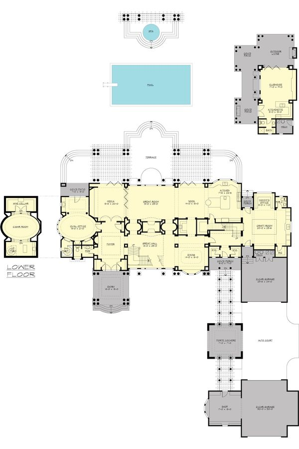 Traditional Floor Plan - Main Floor Plan Plan #132-217