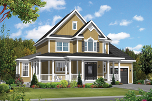 Country Exterior - Front Elevation Plan #25-4375