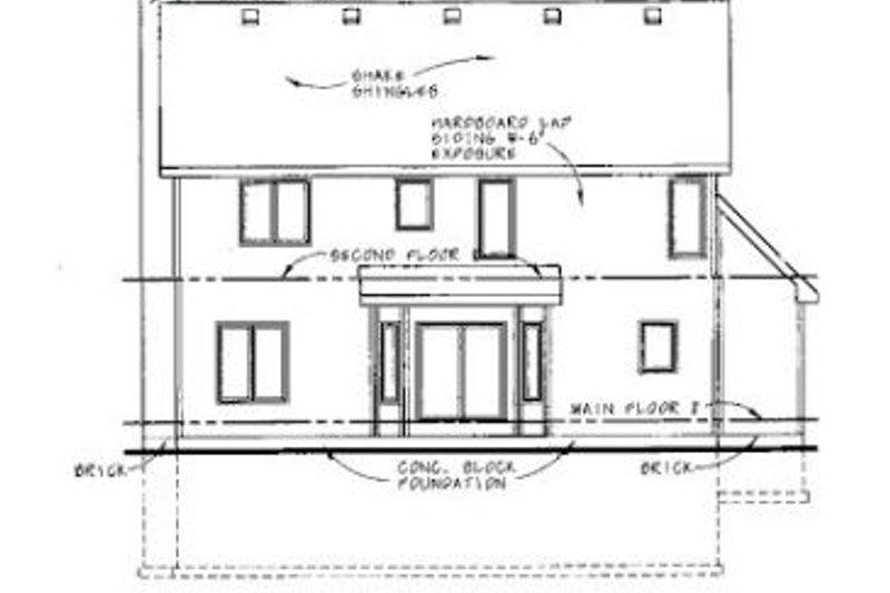 Traditional Exterior - Rear Elevation Plan #20-732 - Houseplans.com
