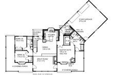 Craftsman Floor Plan - Main Floor Plan Plan #117-880