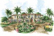 Architectural House Design - Mediterranean Exterior - Front Elevation Plan #1017-68