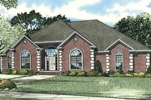 Home Plan - Traditional Exterior - Front Elevation Plan #17-2794