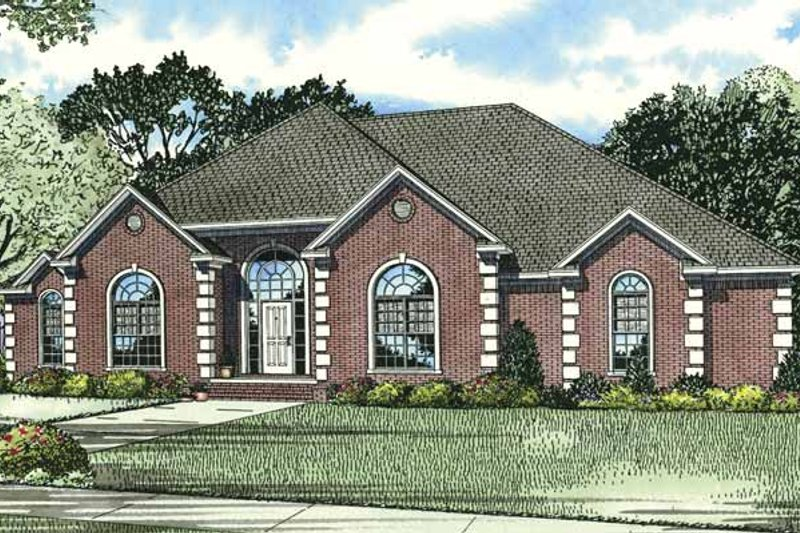 Dream House Plan - Traditional Exterior - Front Elevation Plan #17-2794