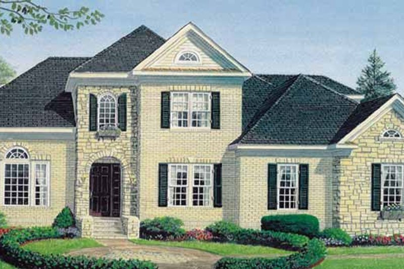 European Exterior - Front Elevation Plan #306-136