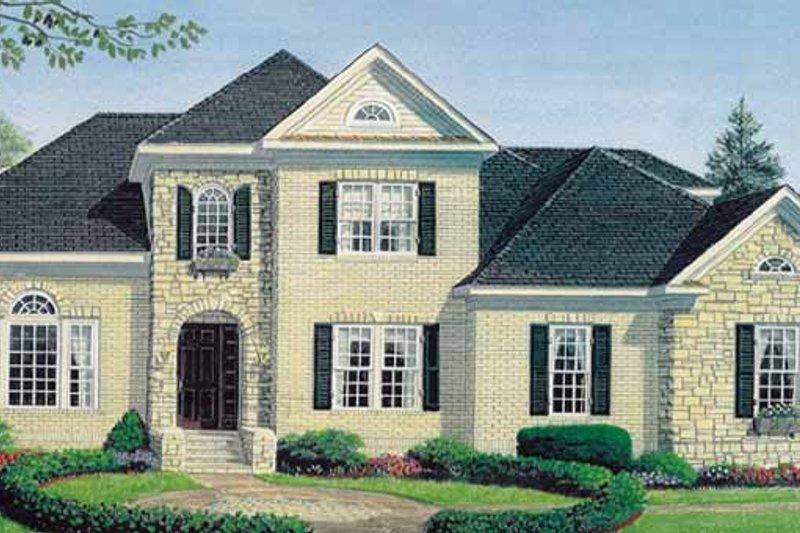 Dream House Plan - European Exterior - Front Elevation Plan #306-136