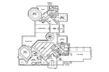 Contemporary Floor Plan - Main Floor Plan Plan #417-814