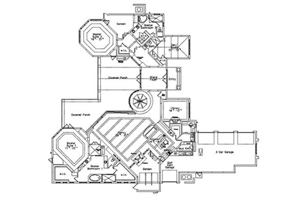Contemporary Floor Plan - Main Floor Plan Plan #417-814