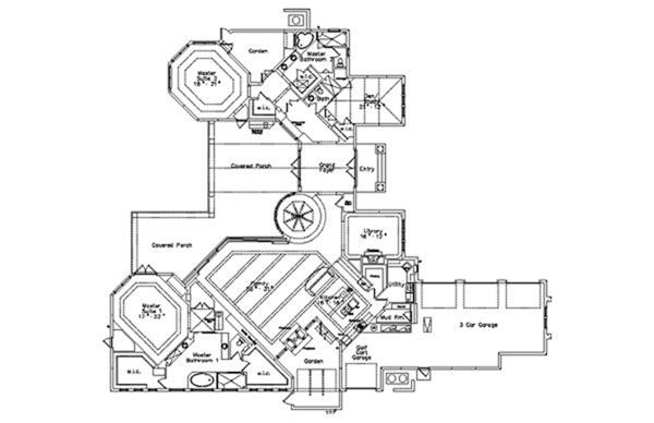 Home Plan - Contemporary Floor Plan - Main Floor Plan #417-814