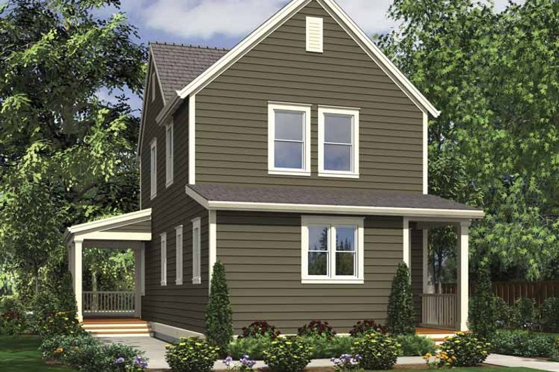 Country Exterior - Rear Elevation Plan #48-866 - Houseplans.com