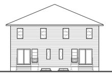 Architectural House Design - Contemporary Exterior - Rear Elevation Plan #23-2596