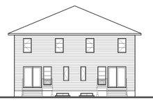Architectural House Design - Contemporary Exterior - Rear Elevation Plan #23-2596