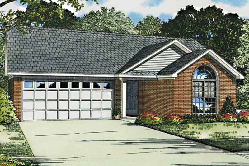 Ranch Exterior - Front Elevation Plan #17-2796
