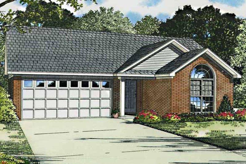 Ranch Exterior - Front Elevation Plan #17-2796 - Houseplans.com