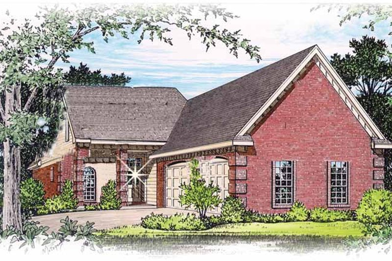 Traditional Exterior - Front Elevation Plan #15-298
