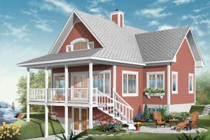 Country Exterior - Front Elevation Plan #23-2408