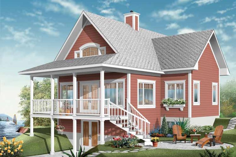 Country Exterior - Front Elevation Plan #23-2408 - Houseplans.com