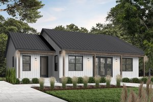 Architectural House Design - Modern Exterior - Front Elevation Plan #23-2715