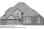 European Style House Plan - 4 Beds 3.5 Baths 3040 Sq/Ft Plan #70-478 Exterior - Rear Elevation