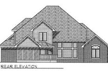 European Exterior - Rear Elevation Plan #70-478