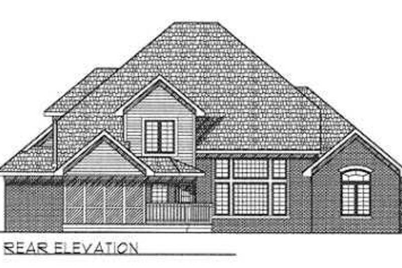 European Exterior - Rear Elevation Plan #70-478 - Houseplans.com