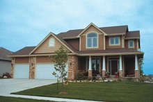 Traditional style, country home design, elevation