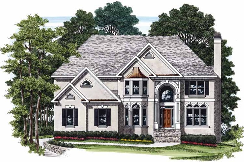 Mediterranean Exterior - Front Elevation Plan #927-376