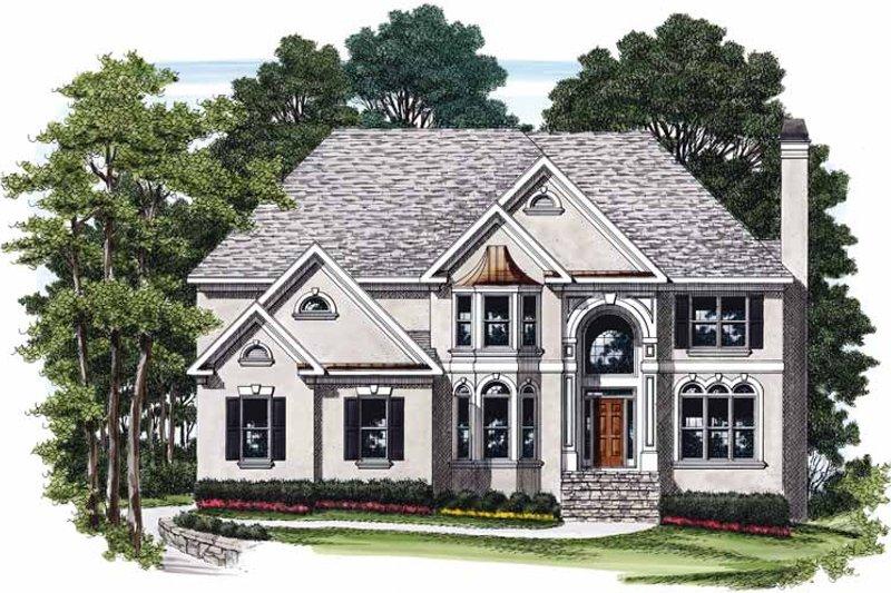 House Plan Design - Mediterranean Exterior - Front Elevation Plan #927-376