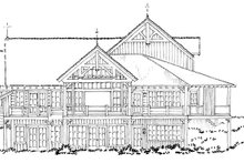 Craftsman Exterior - Rear Elevation Plan #942-30