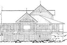 House Plan Design - Craftsman Exterior - Rear Elevation Plan #942-30
