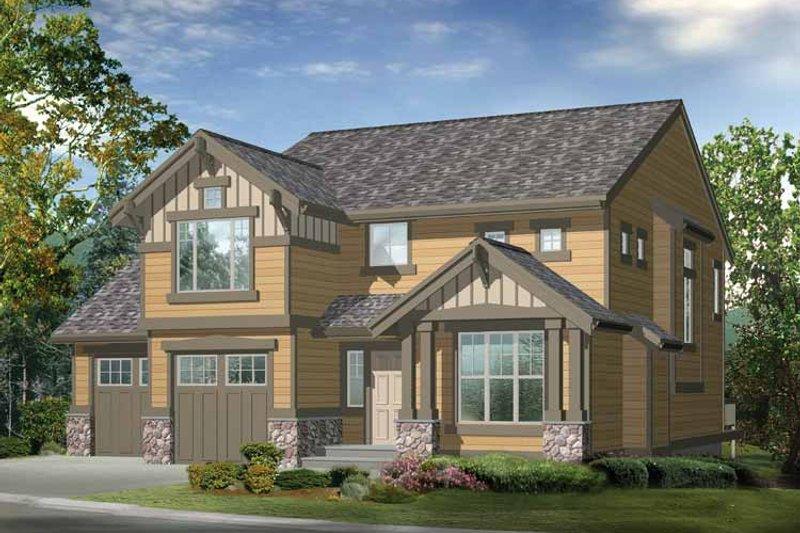 Craftsman Exterior - Front Elevation Plan #132-290 - Houseplans.com