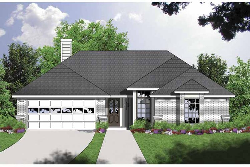 Traditional Exterior - Front Elevation Plan #40-494 - Houseplans.com