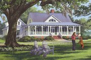 Farmhouse Style House Plan - 4 Beds 3 Baths 2556 Sq/Ft Plan #137-252 Exterior - Front Elevation