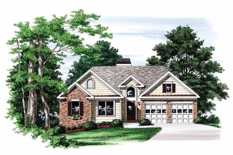 Ranch Exterior - Front Elevation Plan #927-733