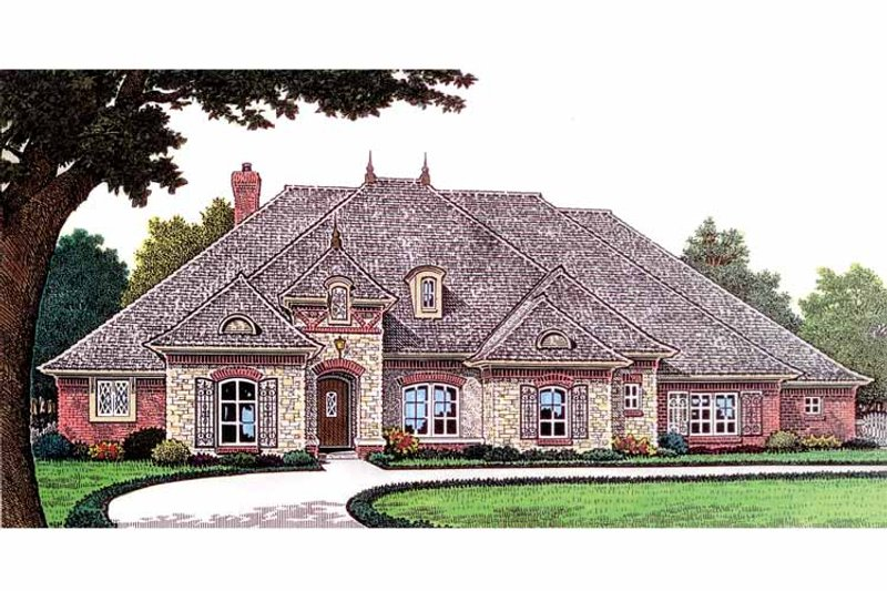 Country Exterior - Front Elevation Plan #310-1236 - Houseplans.com