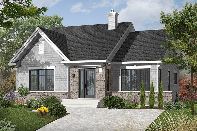 Architectural House Design - Craftsman Exterior - Front Elevation Plan #23-2414