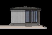 Modern Style House Plan - 1 Beds 1 Baths 230 Sq/Ft Plan #549-10