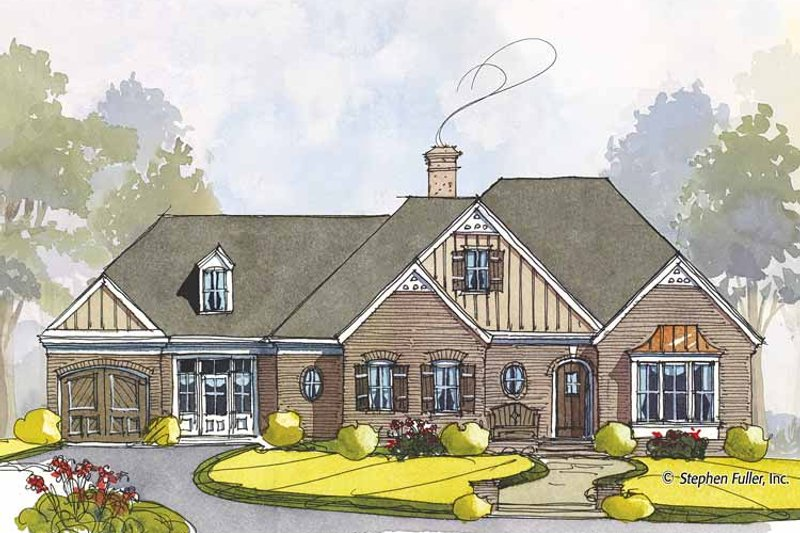 Colonial Exterior - Front Elevation Plan #429-441 - Houseplans.com