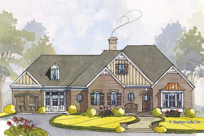 Colonial Exterior - Front Elevation Plan #429-441 - Houseplans.com
