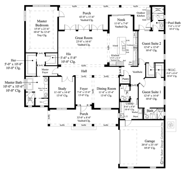 Country Floor Plan - Main Floor Plan Plan #930-467