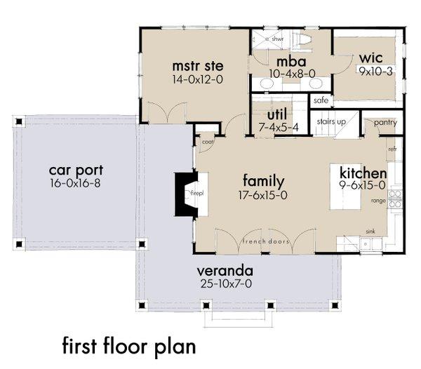 Dream House Plan - Cottage Floor Plan - Main Floor Plan #120-273
