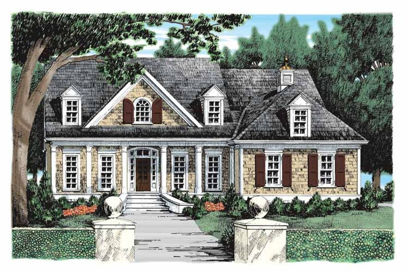 Country Exterior - Front Elevation Plan #927-934 - Houseplans.com
