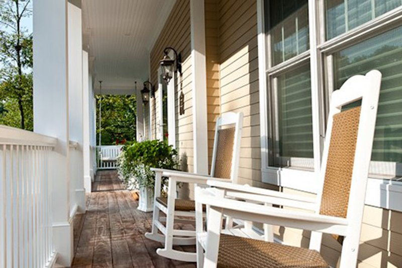 Covered front porch - 3500 square foot Country Home