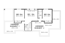 Craftsman Floor Plan - Lower Floor Plan Plan #929-953