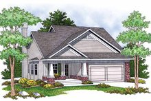 Home Plan - Craftsman Exterior - Front Elevation Plan #70-1380