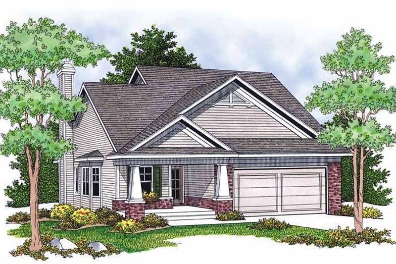 Craftsman Exterior - Front Elevation Plan #70-1380